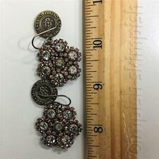 Saint Vintage Shimmers of Blush Skies Swarovski Crystal Bay Earrings