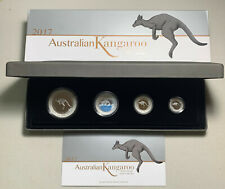 New Listing2017 Australia Kangaroo 4 Coin Proof Set in Ogp 1oz 1/2oz 1/4oz 1/10oz