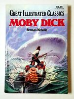 Great Illustrated Classics Moby Dick Herman Melville Hardcover Free Shipping