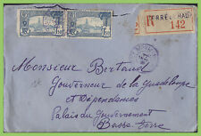 Guadeloupe 1944 registered cover to the Governor