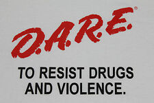 Xl * Nos vtg 90s Dare to resist drugs and violence t shirt D.A.R.E. straightedge