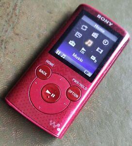 Sony Walkman NWZ-E384 Red (8GB) Digital MP3 Media Player