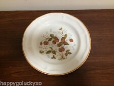ANTIQUE ARRAY Brick Oven Stoneware Plate, Strawberry decoration, Made in China!