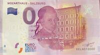 BILLET 0  EURO MOZARTHAUS SALSBURG  ALLEMAGNE 2017 NUMERO 10000 DERNIER BILLET