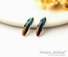 4PCS Mini Cute Feather Resin Charm Perfect For Stud Earring Rings YED006J