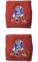 Brand New New England Patriots Wristbands Sweatbands Two Pack Red NFL