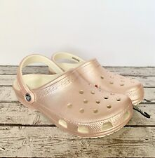 CROCS Classic Clogs Metallic Pink Women's US 10 Lightweight Sandals. BNWT.