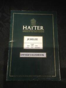 Hayter Owners Handbook 422N 423N 424N