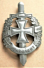 WW2 GERMAN MILITARY BADGE WEHRMACHT 1935 - 1945 WITH IRON CROSS REPRO