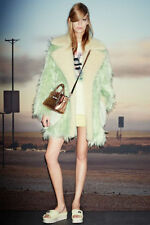 Coach Fluff Oversized Shearling-Trimmed Faux Fur coat Size:XXS $1495 NEW