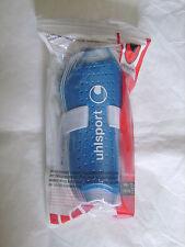 "Protège-tibias UHLSPORT ""Superlite"" bleu/blanc taille S (152 cm) neufs emballés"
