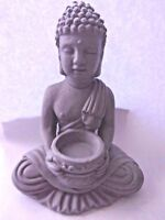 "Latex Buddha mold plaster cement concrete garden statuary mould  6""H x 3.5"" W"