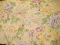 Richloom Wild roses Drapery Fabric 100% cotton light beige background BTY