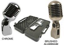Micrófono Retro Vintage Style Elvis con una opción de Cromo/aluminio cepillado