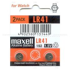 2 NEW MAXELL LR41 AG3 392A 192 SR41 LR736 CX41 392 BATTERY