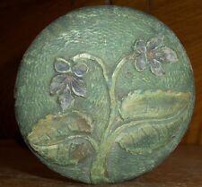 Antique Wood Umbrella Handle - Floral Decoration - Rich & Son Makers