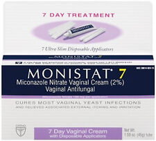 Monistat 7 Vaginal Antifungal Cream with Disposable Applicators - 1.59 oz