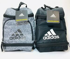 Adidas Excel Insulated Lunch Bag Black or Gray NEW