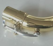 Excellence Baritone Sax neck Golen body +silver plated key sax parts 21.9mm