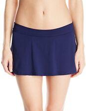 NEW Anne Cole Blast Solid Navy Rock Skirted Swimwear Bikini Bottom L Large