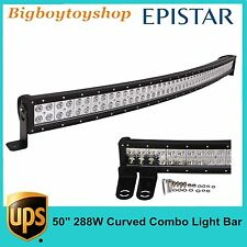 50inch 288W Curved LED Work Light Bar Combo Off road Boat Truck Driving SUV Ford
