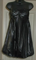 GLAM BY CAPRICE Wet Look Puffball bandeau Dress Size 10 RRP £75