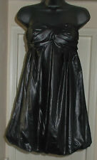 Glam By CAPRICE Wet Look Puffball Bandeau Vestido Talla 10 RRP £ 75