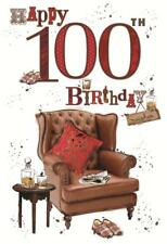 WONDERFUL COLOURFUL REST AND RELAX HAPPY 100TH BIRTHDAY GREETING CARD