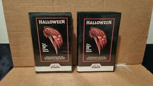 Halloween 1 VHS Horror Movies.... 2 Movies - 1 is a Display Sample...