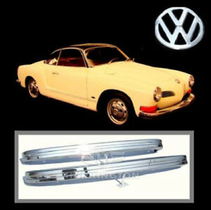 Brand new VW Karmann Ghia 1972-1974 stainless steel bumpers