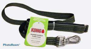 Kong Padded Handle Traffic Leash Green 4 ft NWT