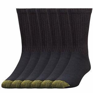 Gold Toe® Men's Cotton Crew Athletic Sock, 6 Pair Sock Size 10-13