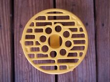Technique Round Flower Cast Iron Trivet Hot Plate School Bus Yellow 8-1/4 Dia.