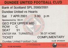 Dundee Football Scottish Fixture Tickets & Stubs