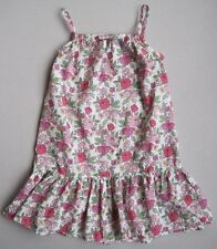 Mini Boden Girls 11 12 Yrs Pink & Green Floral Strappy Tank Top EUC Sleeveless