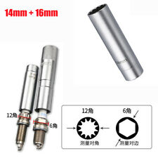 2Pcs 14MM +16MM Magnetic Spark Plug Sleeve Socket Wrench Alloy Steel Hand Tool