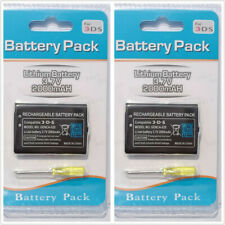 2X 2000mAh 3.7 Rechargeable Battery Replacement for Nintendo 3DS CTR-003 CTR-001