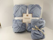 Pottery Barn Teen Whimsical Waves Comforter Twin Xl w/1 Std Sham Peri Blue #7301