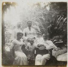 Famille Colons Photo Plaque de verre Stereo L7 Vintage ca 1910