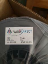 Monofilamento directo 175 mm púrpura filamento de impresora 3D, precisión dimensional