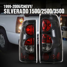 Tail Lights for 99-06 CHEVY Silverado 99-02 GMC Sierra Replacement Black Clear