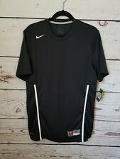 Nike Men's Rally Crew 2.0 Tee Shirt Black/White Sz S 532936-012