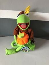 "Kermit the Frog Nanco 22"" Poseable Plush Indian Outfit Muppets Henson RARE"