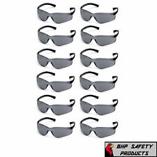 PYRAMEX ZTEK SAFETY GLASSES SMOKE/GRAY LENS SUNGLASSES S2520S Z87+ (12 PAIR)
