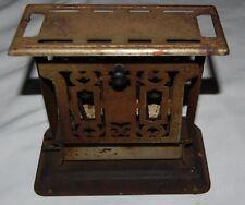 Vintage Antique Toaster Primitive Metal 7 x 8 Art Deco Appliance Campfire