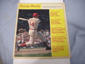 PETE ROSE 1970 Family Weekly Magazine / CLEAN