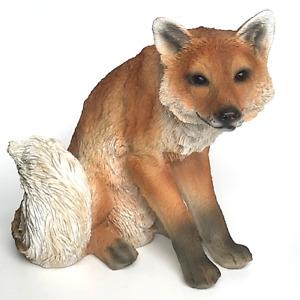 Sitting Fox figurine indoor garden sculpture ornament decoration fox lover gift