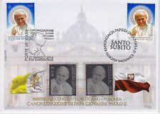 Gedenkbrief Papst Paul mit Vatican Mi. 1428 ** und Polen 4017 ** SILBER Briefmar