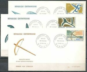 Central African Republik, 1968, Native Hunting Weapons, FDC