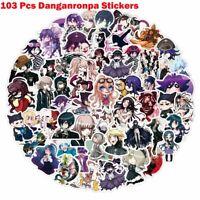 103PCS/SET Anime Danganronpa PVC Stickers for Luggage Laptop Skateboard DIY